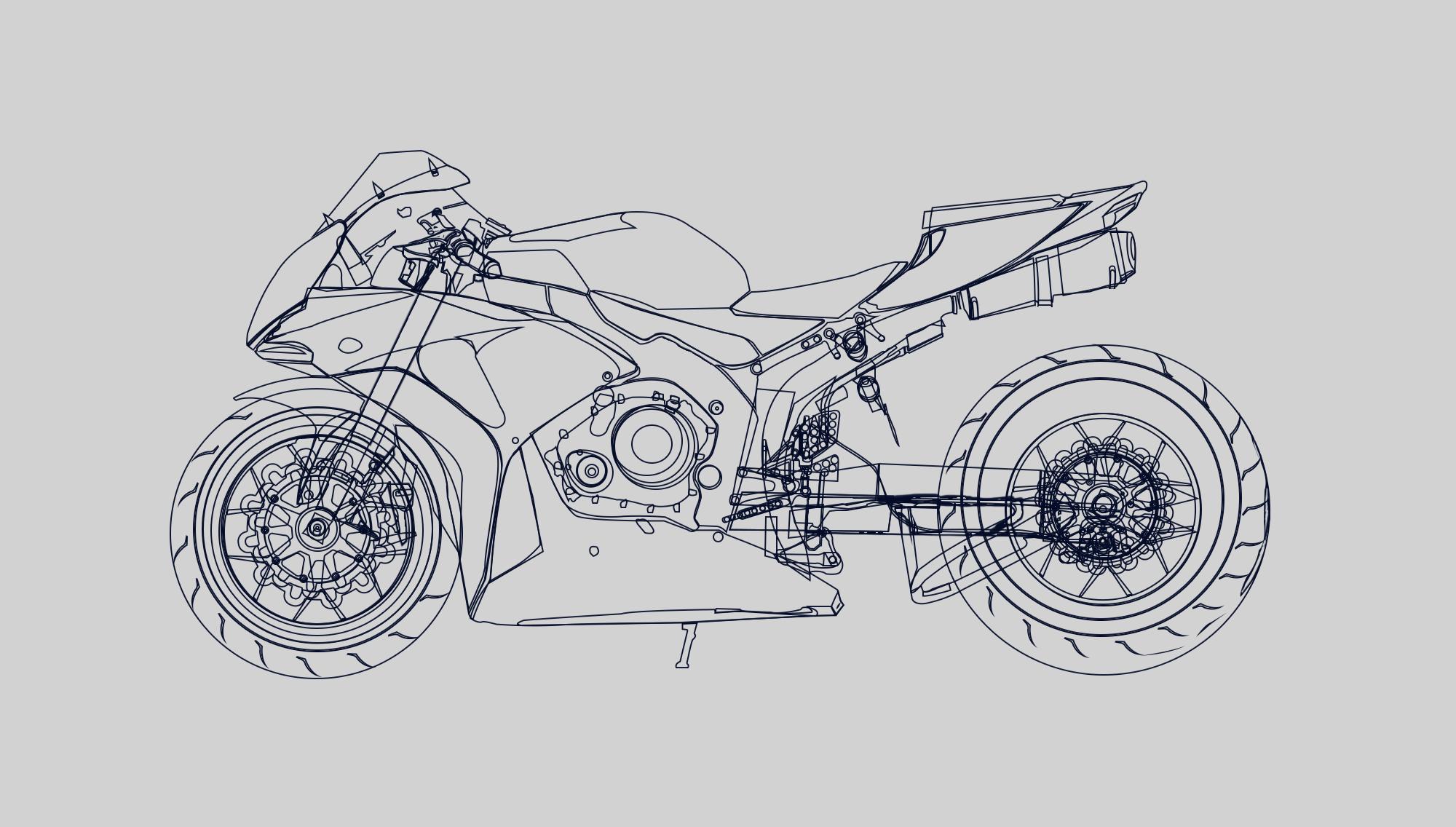 摩托车 写实