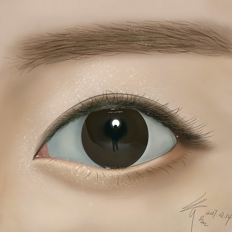临摹 手绘 眼睛