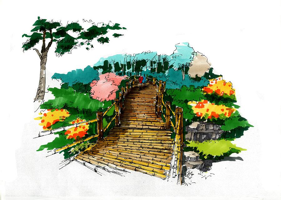 景观小品手绘