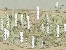 一组手绘地图