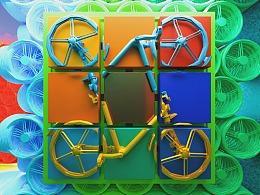 【平衡世界·共享单车】室内装置艺术