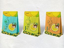 柠妹妹即食柠檬片包装设计