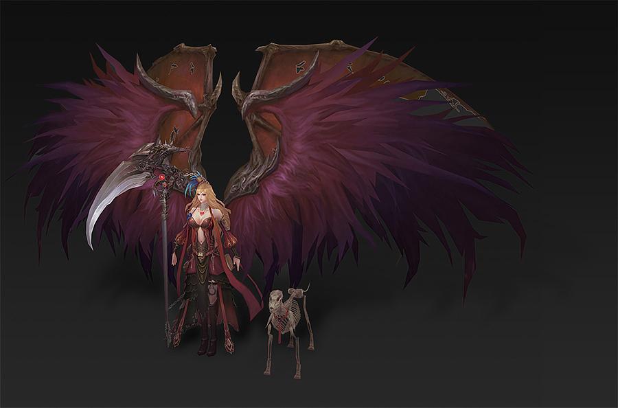 3d游戏建模—低模手绘女性角色,低模手绘怪物