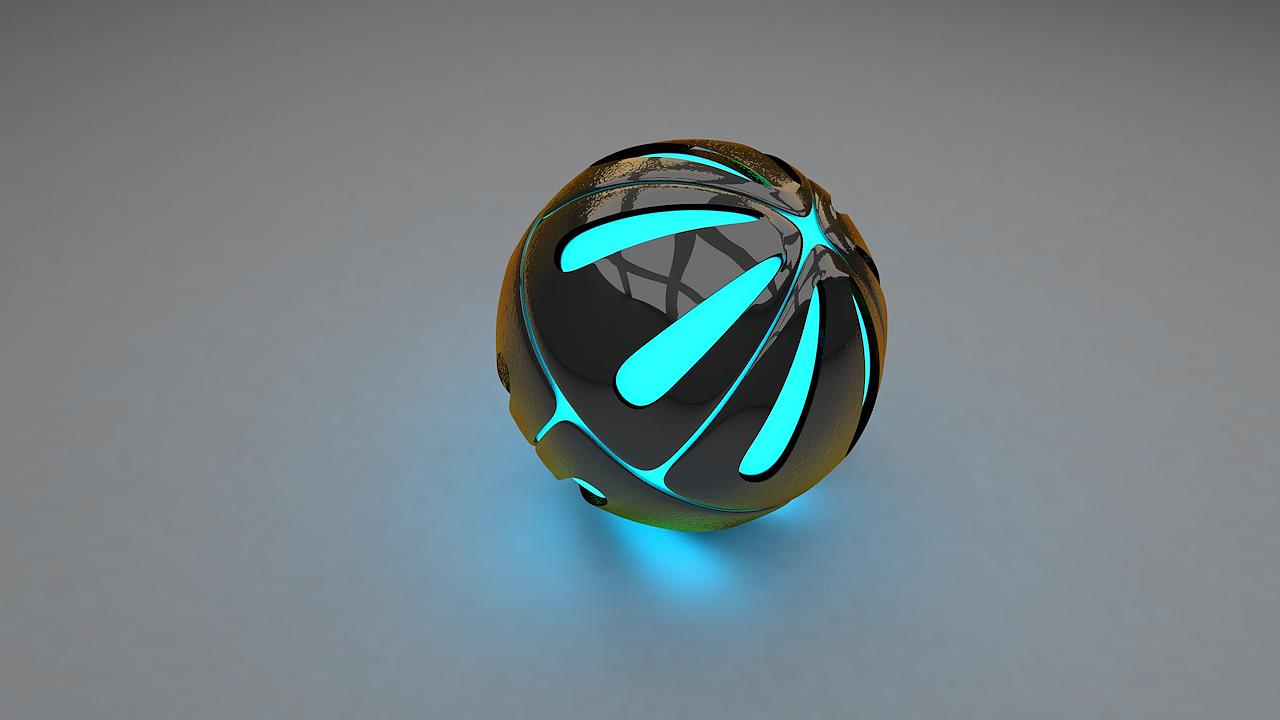 C4D渲染练习作品 GI小球