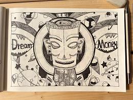 手绘插画——国宝换装