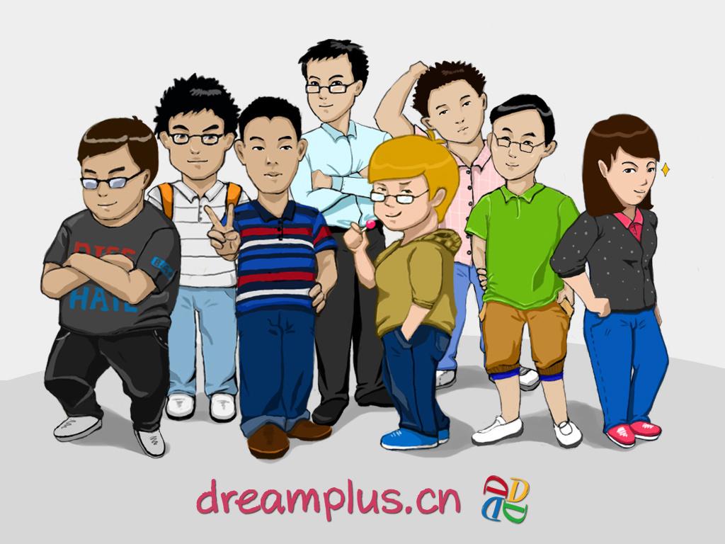 公司人员漫画集体照图片