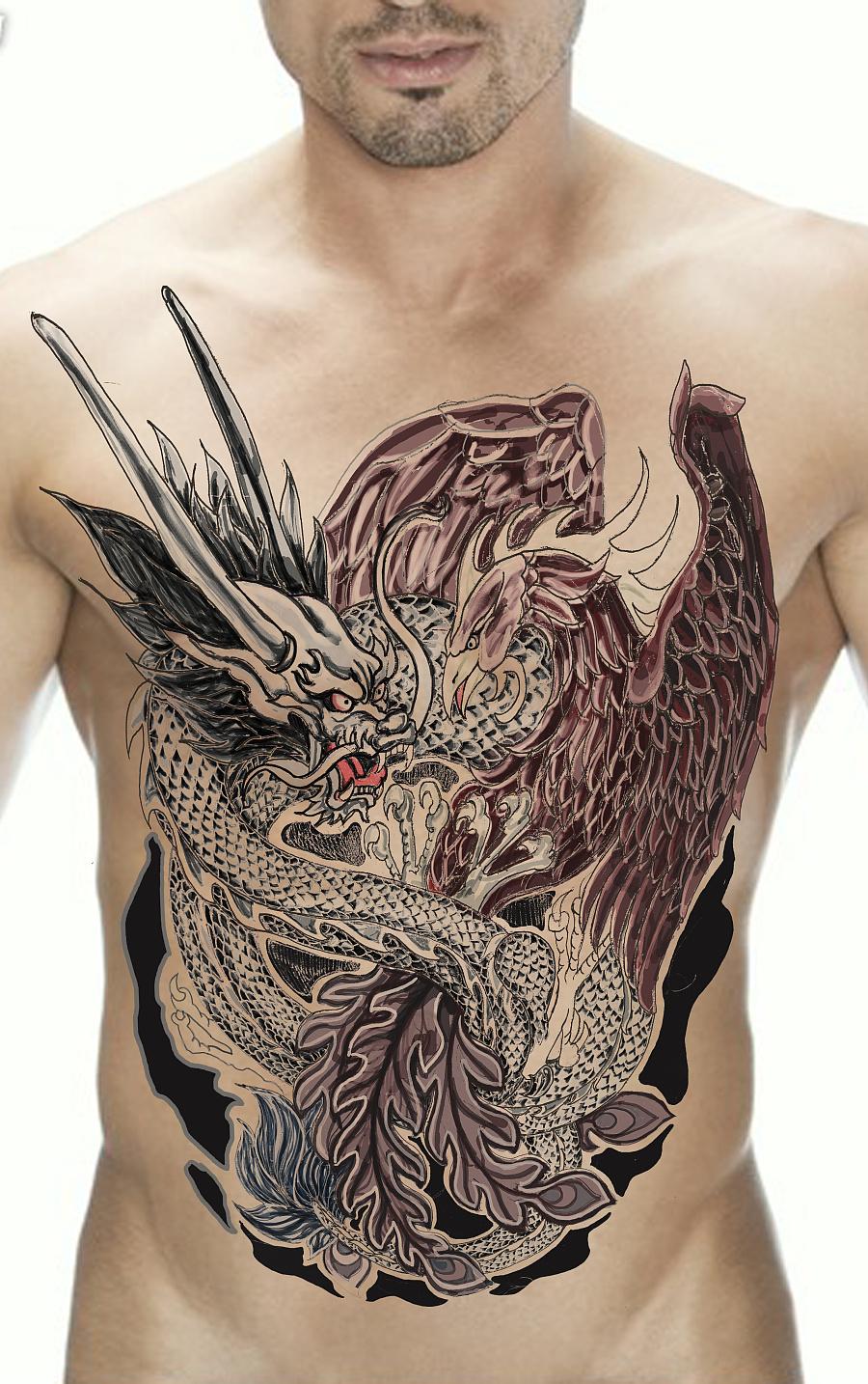 龙凤作品纹身-proe 龙凤作品图片
