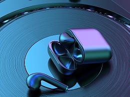 喷油耳机 建模渲染