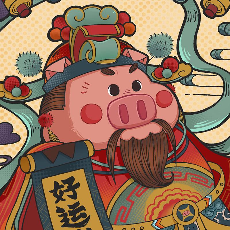 猪年红包设计|插画|商业插画|饼饼couokie - 原创作品图片
