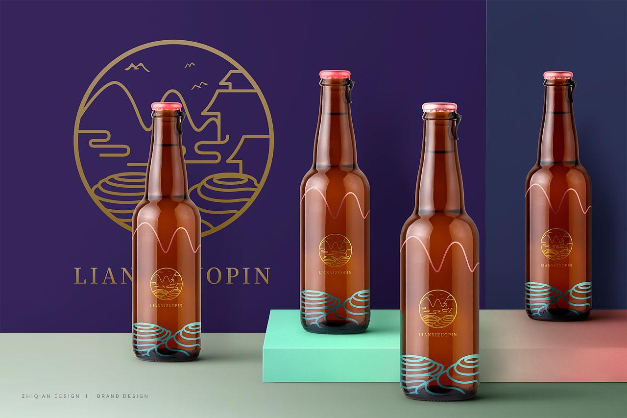 """关于大山里的果醋品牌""""廉熹""""的联想和视觉设计练习图片"""