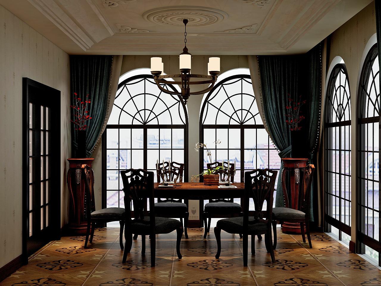 室内设计作品(一)——巴洛克风格生活空间