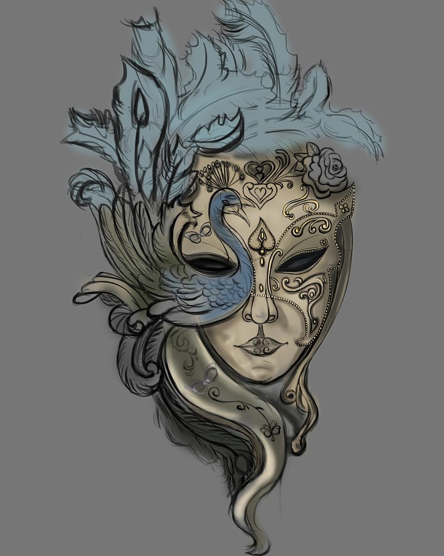 原创作品:手绘面具