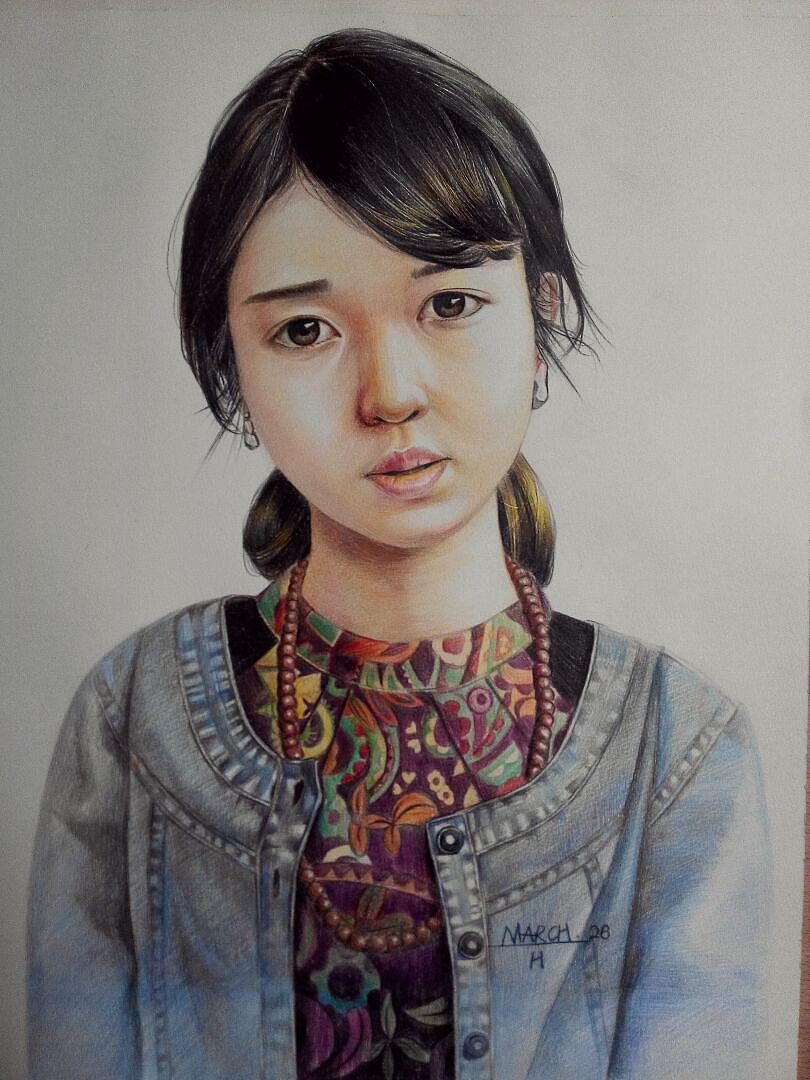 彩铅女孩(4)