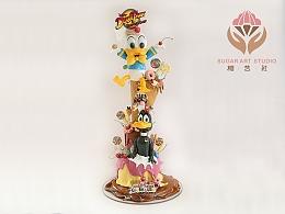 糖艺社翻糖蛋糕--卡通主题系列作品