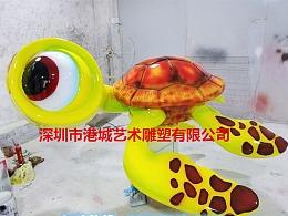 海洋动物主题玻璃钢仿真海龟乌龟雕塑定制哪家好厂家