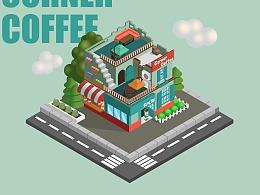 2.5D小场景-咖啡店
