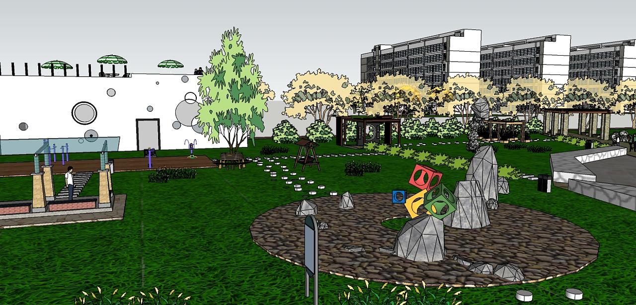校园一角|空间|景观设计|boyisheji - 原创作品