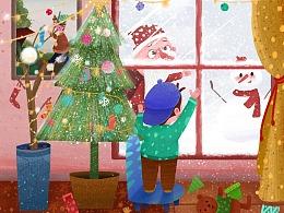 之前画的圣诞节日的图