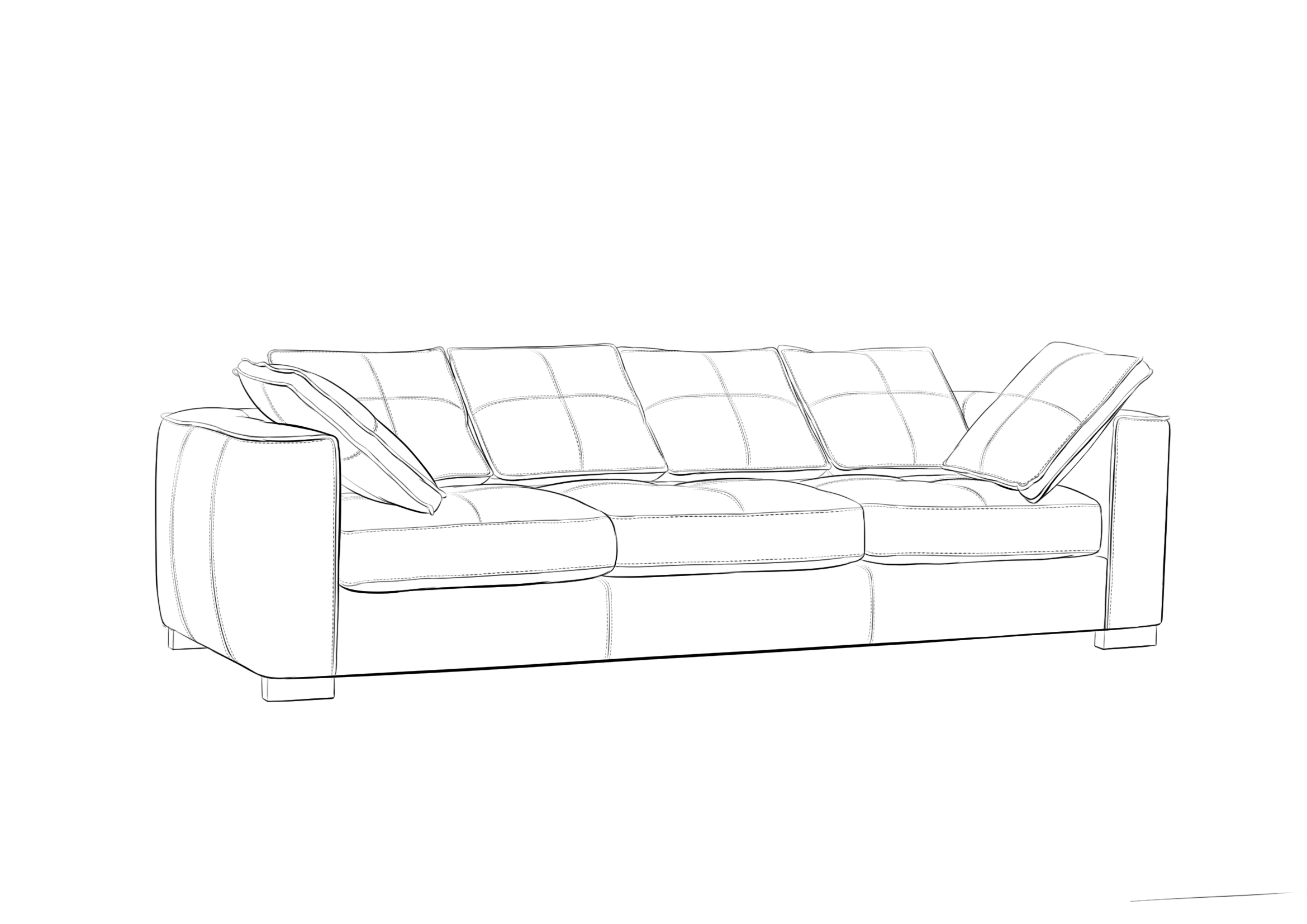 户型 户型图 简笔画 平面图 手绘 线稿 2339_1654