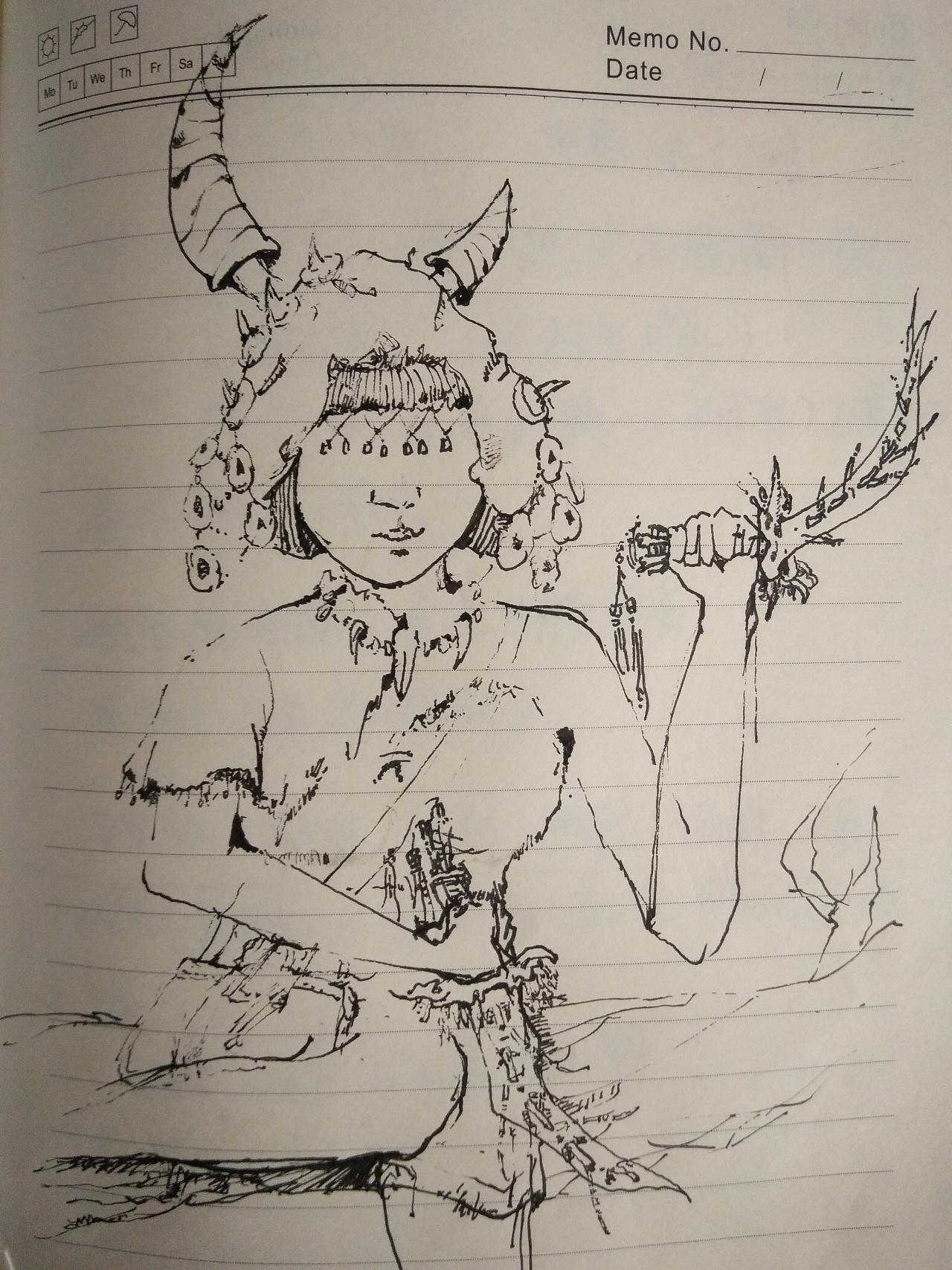 碳素笔手绘