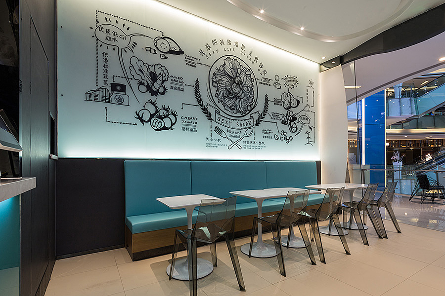 轻餐店 · 餐饮空间设计_好色派沙拉 深圳店