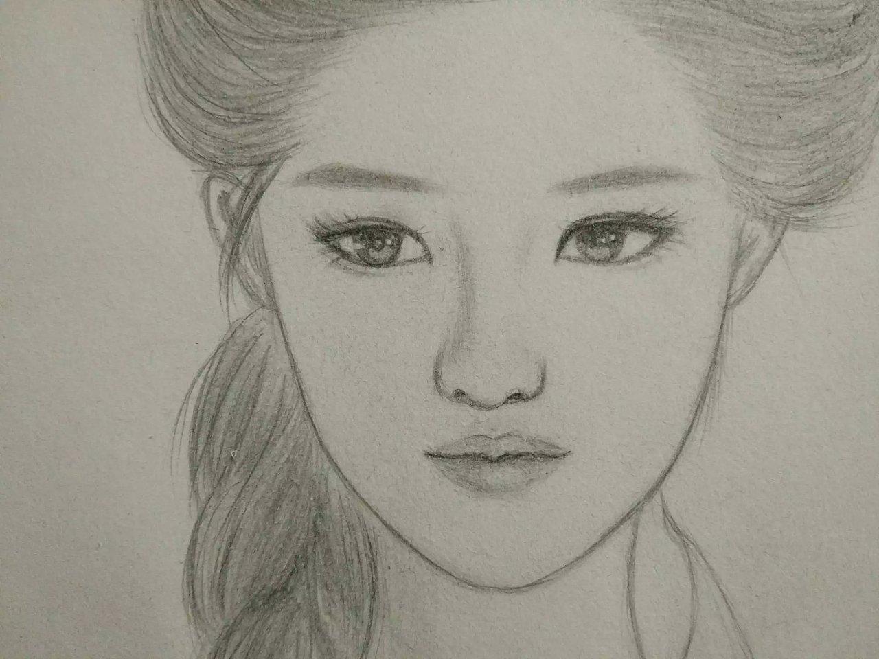 刘亦菲手绘素描