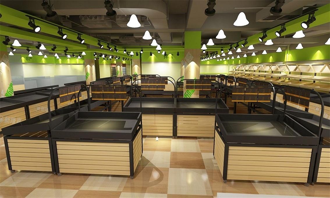 重庆菜市场规划设计/重庆生鲜超市整体v超市/重庆菜市场综合体室内设计交底图片