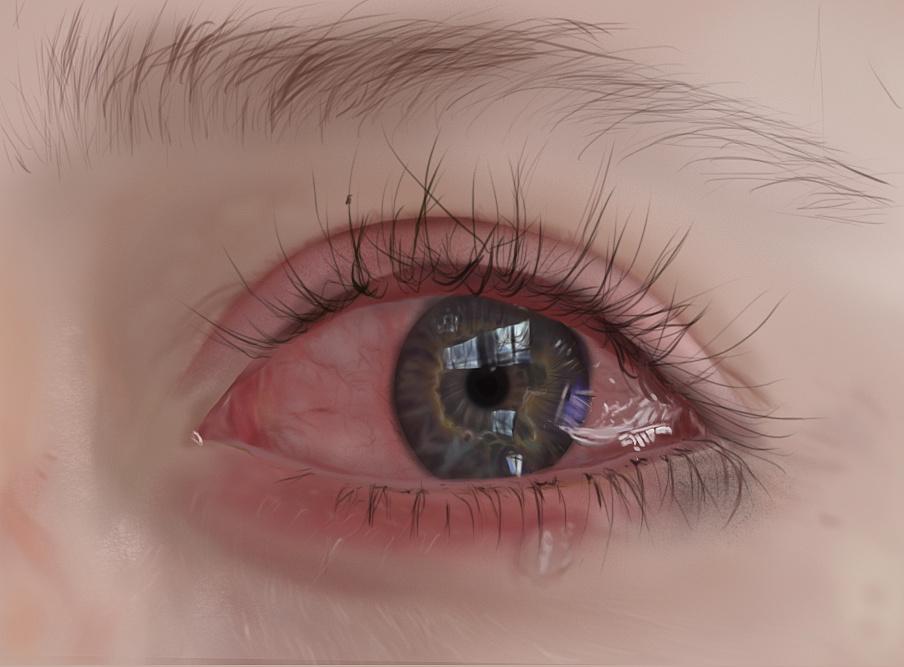 手绘眼睛|插画|插画习作|电线杆321 - 原创作品