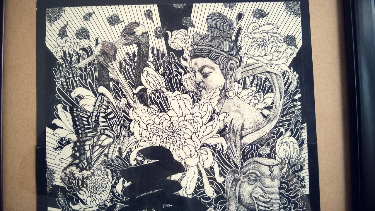 《佛》2纯手绘作品
