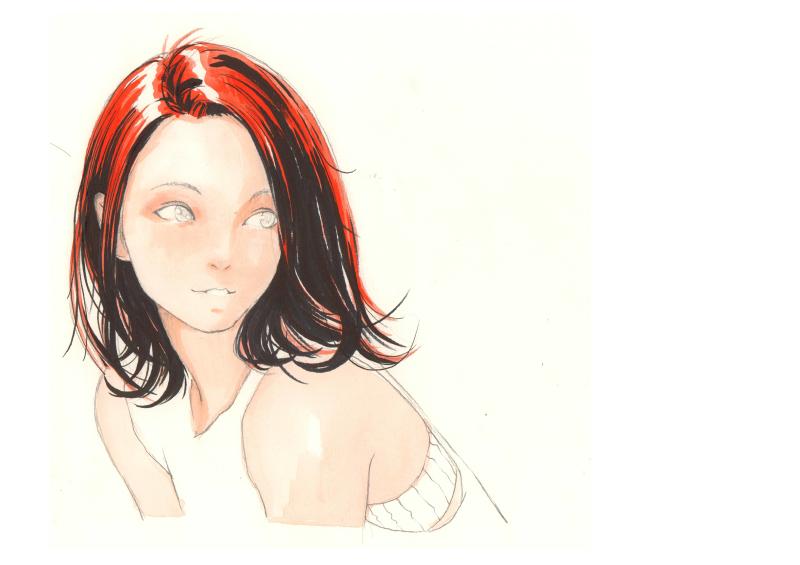 手绘哲:女孩子绘画步骤图