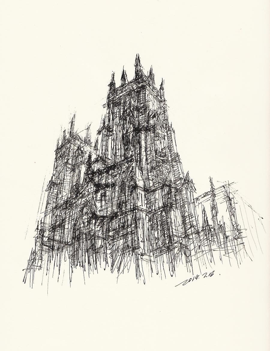 建筑手绘简笔画彩