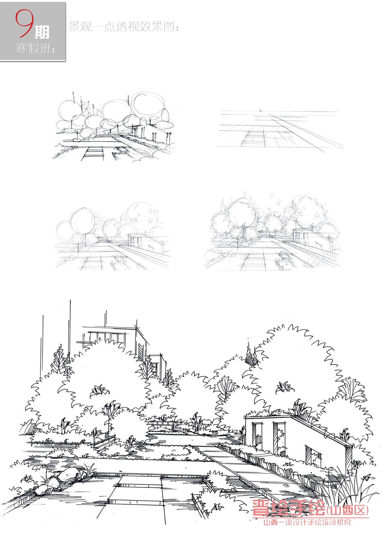 景观手绘步骤效果图