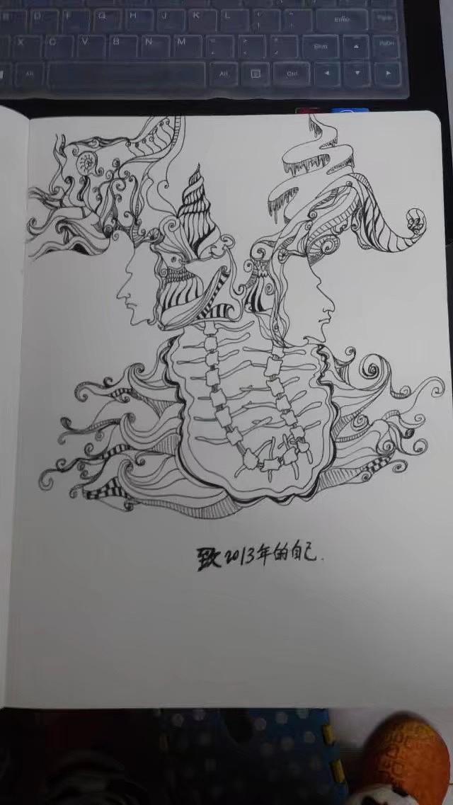 国画 简笔画 手绘 线稿 640_1137 竖版 竖屏