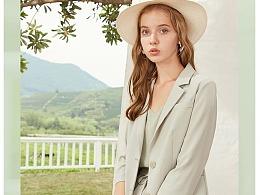 双色时尚西装两件套详情页