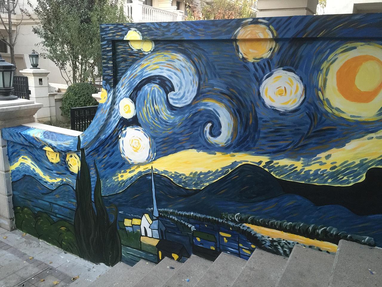 墙体彩绘涂鸦石家庄手绘墙