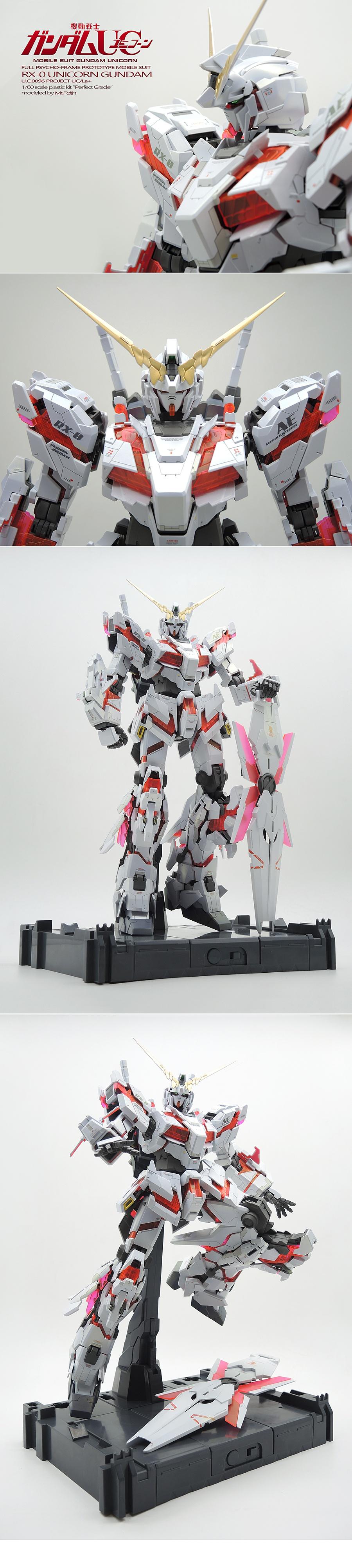 查看《PG RX-0 Gundam Unicorn 独角兽高达 喷涂作品》原图,原图尺寸:1000x4454