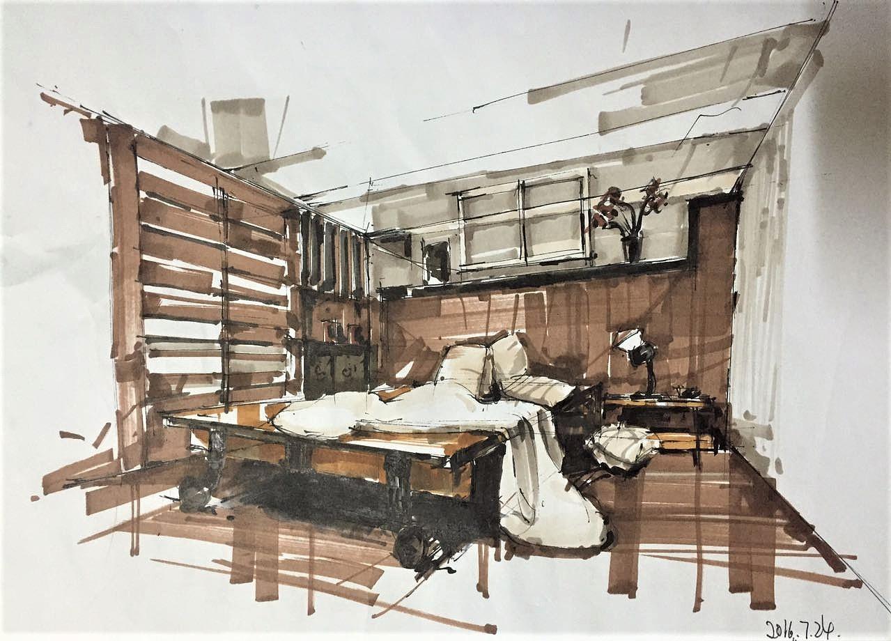 室内手绘|空间|室内设计|仅为十块钱 - 原创作品