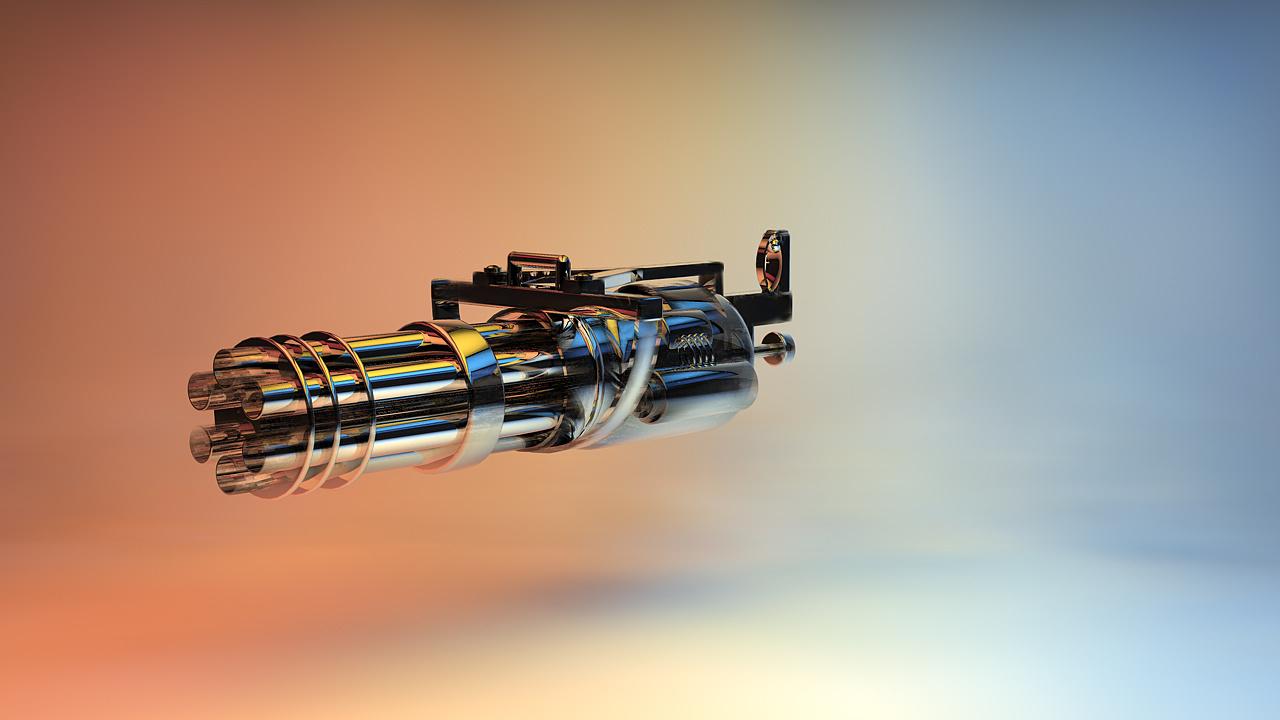 多管旋转机枪加特林图片