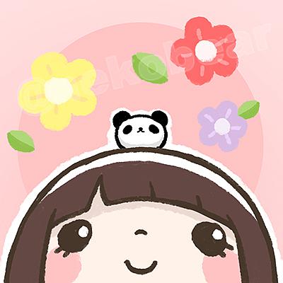情侣头像-熊猫君