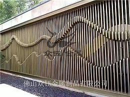售楼部户外背景墙不锈钢山峦造型设计风格特色