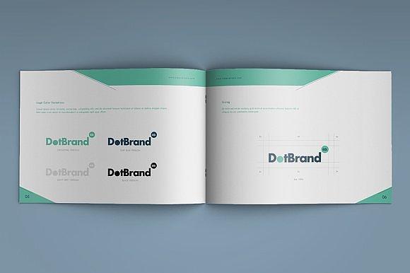 横版排版_绿色创意横板企业画册模板|平面|书装/画册|吾爱排版 - 原创作品 ...