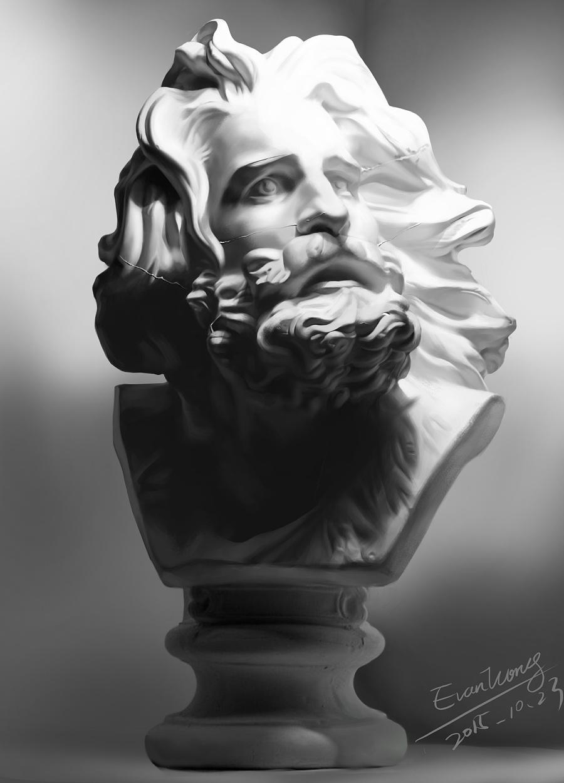 石膏像 手绘 绘画习作