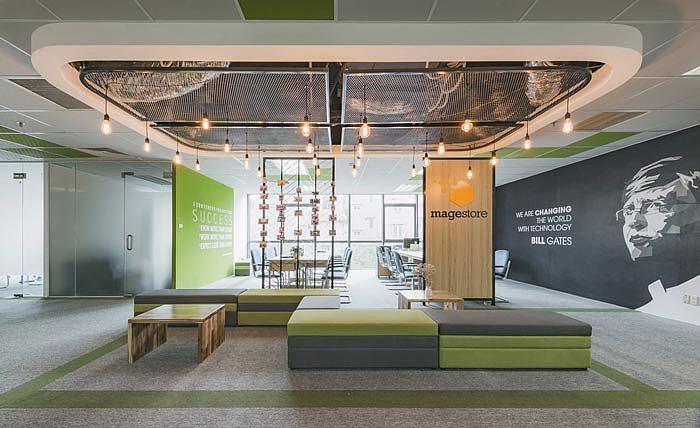 北京电子商务企业办公室装修效果图