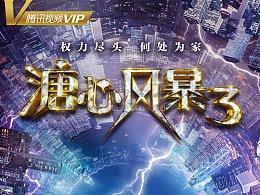 经典香港电视剧《溏心风暴3》赛博朋克风剧情海报设计