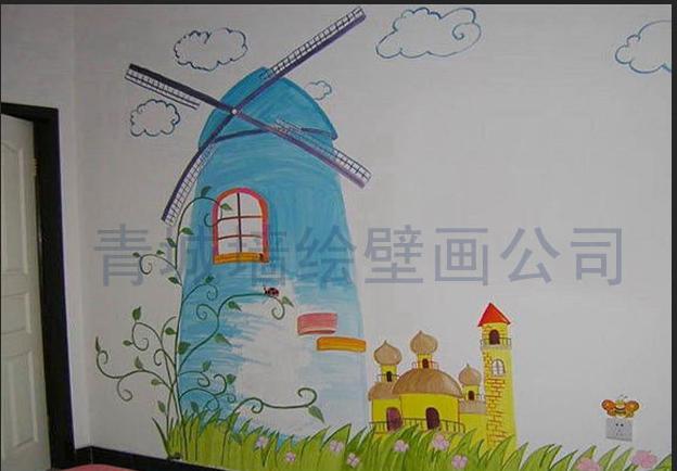 青岛墙绘手绘墙青露工作室作品-无限创意打造视觉享受
