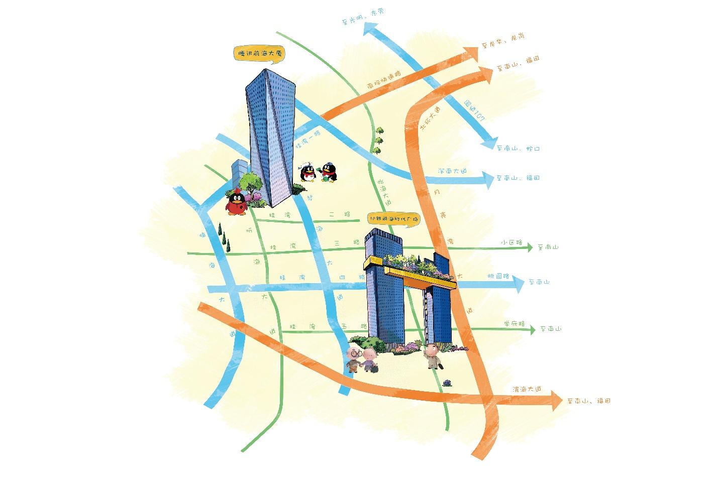 手绘地图|插画|概念设定|神经西西 - 原创作品 - 站酷