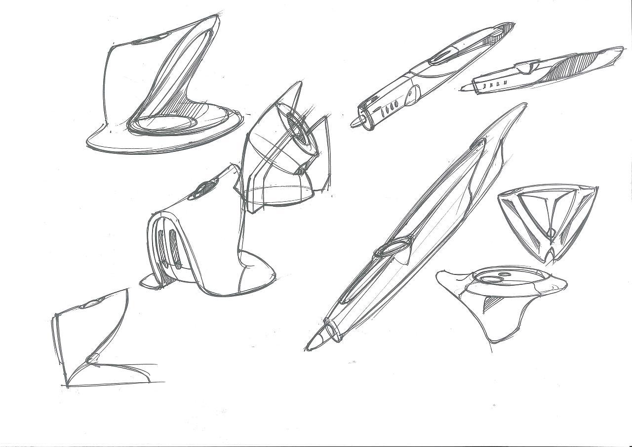 工业设计手绘之吓jx画的线稿形体