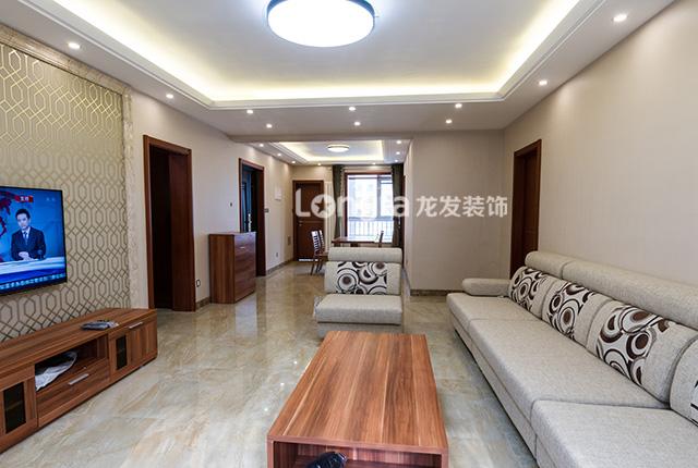万达装饰丨石家庄龙发风格140平现代简约小区130平米4房一厅设计图图片