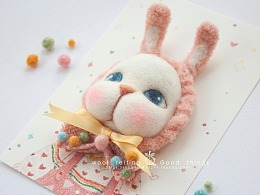 囍囍的羊毛毡 之 萌兔