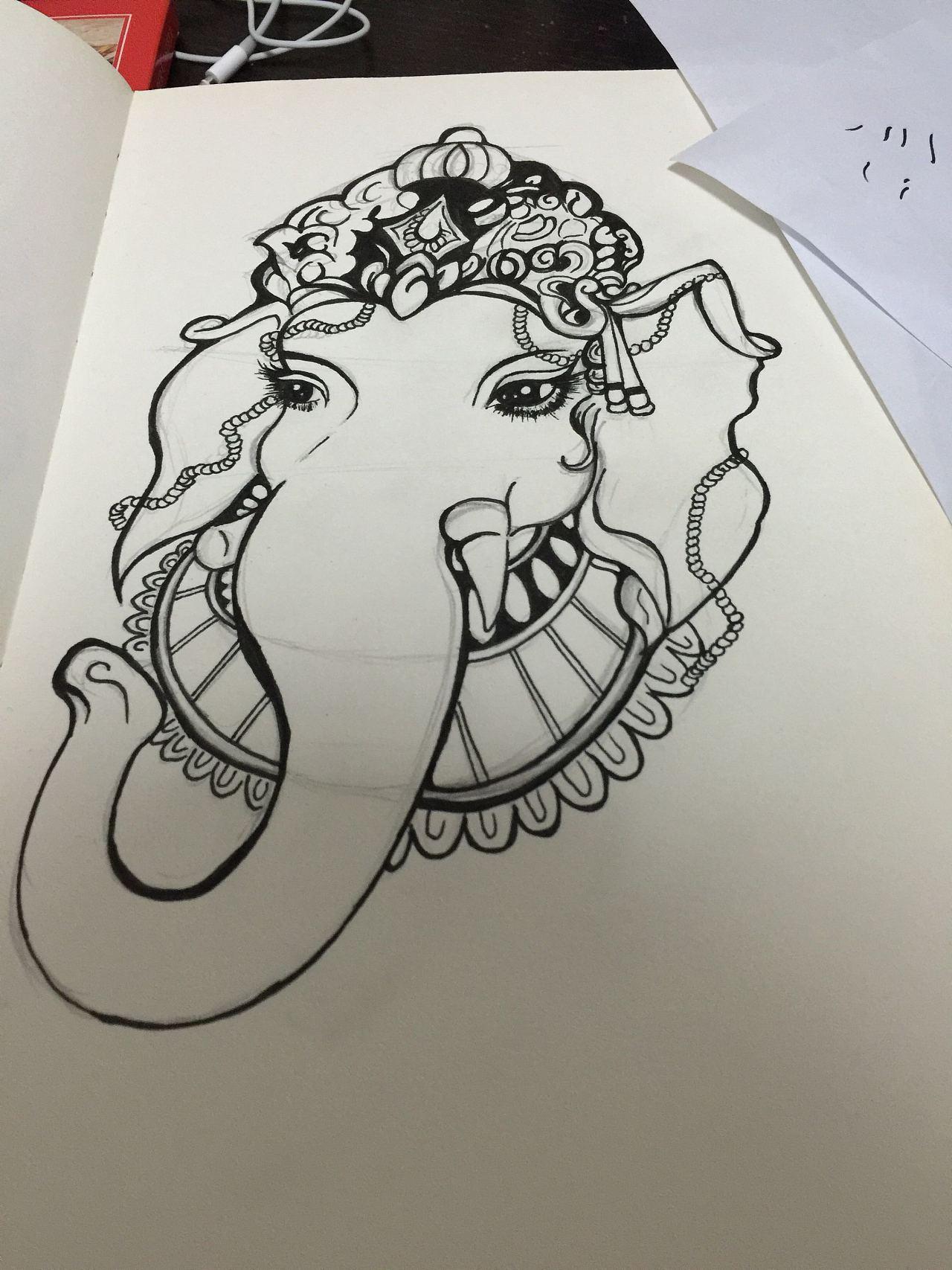 象神手绘稿